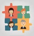 puzzles with people concept communication vector image
