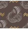 Zodiac sign Aquarius Horoscope vintage seamless vector image