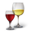 Glass glasses with wine vector image