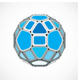 abstract low poly object with black lines and vector image