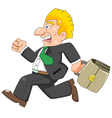 Business man is running vector image vector image