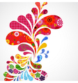 Floral and ornamental vector image vector image