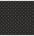 Tile pattern grey polka dots black background vector image vector image