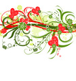 Valentines floral grunge background vector vector image
