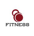kettlebell fitness vector image