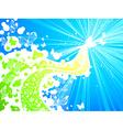 Butterflies in the sky vector image