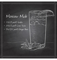 Cocktail Moscow Mule on black board vector image