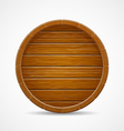 wooden barrel top end background vector image