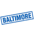 Baltimore blue square grunge stamp on white vector image