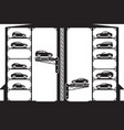 automatic car parking vector image