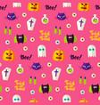 halloween boo seamless pattern vector image