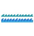 hand drawn ocean waves endless border vector image