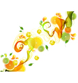 orange abstract splash vector image
