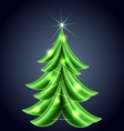 Shiny Christmas tree vector image