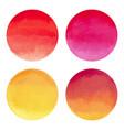 watercolor bright circle shape design elements vector image