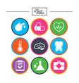 medicine healthcare and diagnosis icons vector image vector image