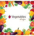 vegetables frame for your designs - vector image vector image