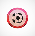 ball circle pink triangle background icon vector image