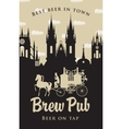 brewery with horse carriage in the old town vector image