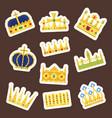 crown king vintage premium white badge heraldic vector image