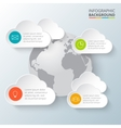 earth with infographic elements vector image