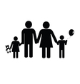 family black silhouette vector image
