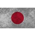Japanese Flag Grunge vector image