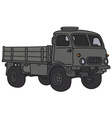 Old military lorry vector image