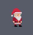 pixel art cute santa claus vector image