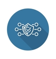 Protection and Safety Icon Flat Design vector image