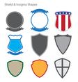 Shield and Insignia Shapes vector image
