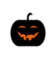 smiley jack o lantern vector image
