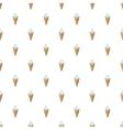 Vanilla ice cream in a waffle cone pattern vector image