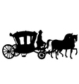 whip horse and carriage vector image