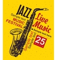 Music poster jazz festival vector image