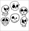 Skulls 6 vector image vector image