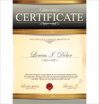 Certificate gray template vector image