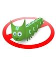 Green caterpillar pest runner vector image