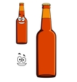 Two bottles of beer or lager vector image vector image