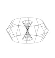 3d wireframe render object vector image