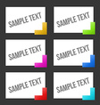 Text tags vector image vector image