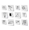 textile objects and industry icons vector image vector image