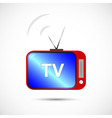 Icon of television in color vector image