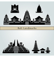 Bali landmarks and monuments vector image vector image