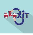Brexit Typography Design vector image