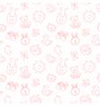 Baby toys cute cartoon set seamless pattern vector image