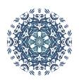 blue watercolor mandala Abstract vector image