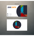 business card template letter L vector image