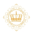 elegant frame with crown vector image