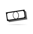 money icon in black vector image